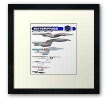 U.S.S. Enterprise Lineage Framed Print