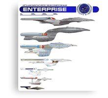 U.S.S. Enterprise Lineage Canvas Print