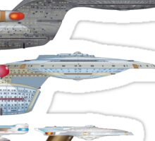 U.S.S. Enterprise Lineage Sticker