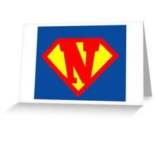 Super N Greeting Card