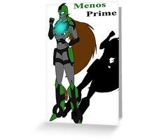 Menos Prime Greeting Card