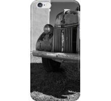 Old Vehicle VII  BW - Ford Truck iPhone Case/Skin