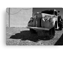 Old Vehicle VII  BW - Ford Truck Canvas Print