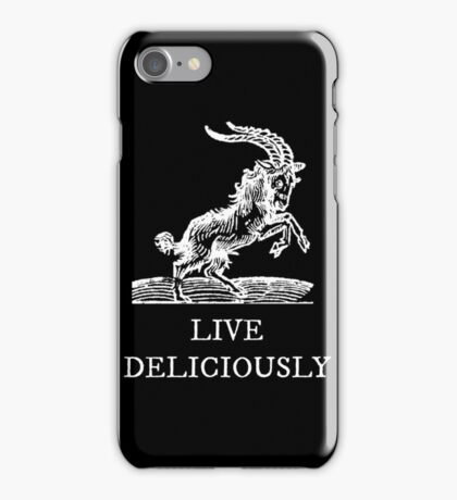 Live Deliciously iPhone Case/Skin