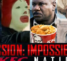 Mission impossible KFC nation Sticker