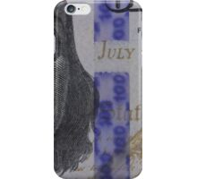 Franklin portrait on banknote iPhone Case/Skin