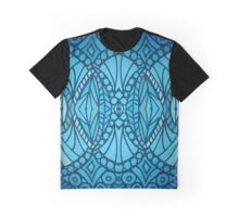 Blue Art Deco Graphic T-Shirt