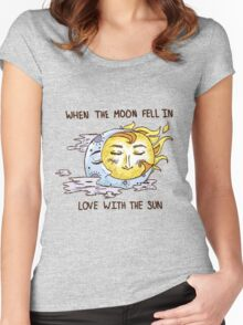 All Was Golden In The Sky  Women's Fitted Scoop T-Shirt