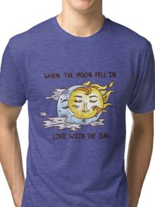 All Was Golden In The Sky  Tri-blend T-Shirt
