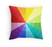 Colourful waves Throw Pillow