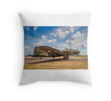 """Boeing B-17G Fortress II 44-85784 G-BEDF """"Sally B/Memphis Belle"""" Throw Pillow"""