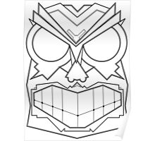 Vector Mask Two - Black & White Poster