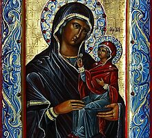 Saint Anne, Mother of the Virgin. by Natalia Lvova