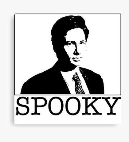 Spooky Mulder Canvas Print