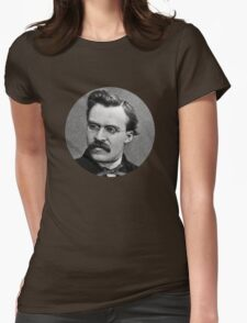 Friedrich Nietzsche sticker Womens Fitted T-Shirt
