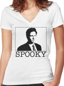 Spooky Mulder Women's Fitted V-Neck T-Shirt