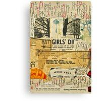 Fat Girls' Diet - A Vintage Collage Canvas Print