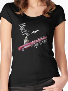Hunter Thompson:  Buy the Ticket, Take the Ride Women's Fitted Scoop T-Shirt