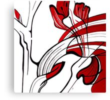 GLADIOLI DETAIL in RED Canvas Print
