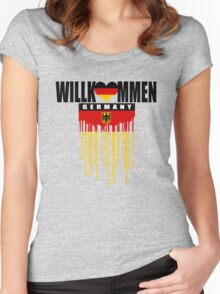 welcome germany Women's Fitted Scoop T-Shirt