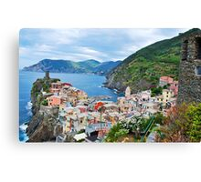 Vernazza Cinque Terre from Above Canvas Print