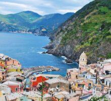 Vernazza Cinque Terre from Above Sticker