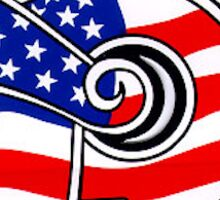 New Trier American Flag Sticker