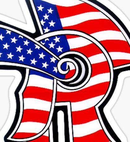 New Trier American Flag Sticker