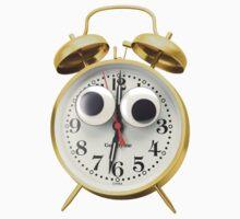 Googly-Eyed Alarm Clock One Piece - Short Sleeve