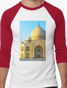 Closeup Of Taj Mahal Men's Baseball ¾ T-Shirt
