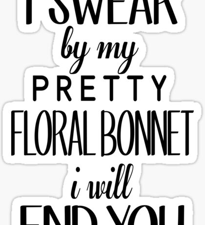 floral bonnet Sticker