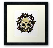 Skull Nouveau Framed Print