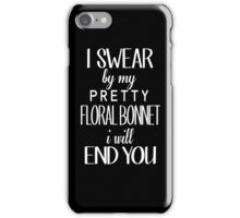 floral bonnet iPhone Case/Skin