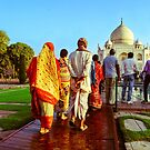 Indian Tourist at Taj Mahal by Neha  Gupta