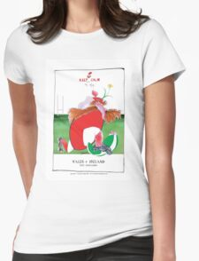 Rugby Balls wales v ireland, tony fernandes Womens Fitted T-Shirt