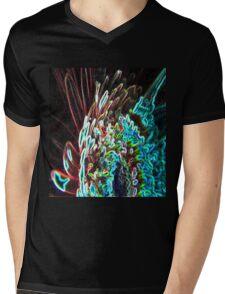 Abstract glow Mens V-Neck T-Shirt