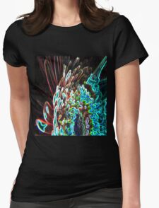 Abstract glow Womens Fitted T-Shirt
