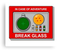 In case of Adventure Canvas Print