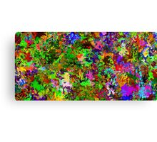 Abstract colors style flowers Canvas Print