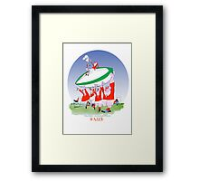 Welsh Rugby 3 cheers, tony fernandes Framed Print
