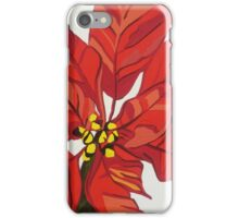 GORGEOUS BRIGHT RED POINSETTIA iPhone Case/Skin