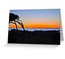 Sunset over the Coast of Cambria, California Greeting Card