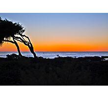 Sunset over the Coast of Cambria, California Photographic Print