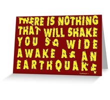 Earthquake Greeting Card