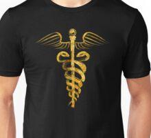 Caduceus Symbol - Gold Edition Unisex T-Shirt