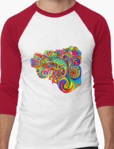 Psychedelizard Men's Baseball ¾ T-Shirt