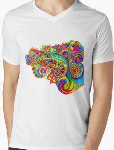 Psychedelizard Mens V-Neck T-Shirt