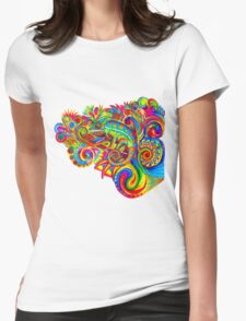 Psychedelizard Womens Fitted T-Shirt