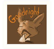 Sleepy Goodnight Potato - Orange and Tan on Spice Art Print