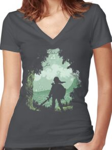Adventure Begins Women's Fitted V-Neck T-Shirt